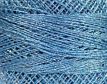 Fiber Content 70% Polyester, 30% Metallic Lurex, Brand YarnArt, Silver, Light Blue, Yarn Thickness 0 Lace  Fingering Crochet Thread, fnt2-52254