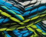Fiber Content 50% Wool, 50% Acrylic, Turquoise, Brand Ice Yarns, Grey, Green, Black, Yarn Thickness 6 SuperBulky  Bulky, Roving, fnt2-52589