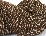 Yarn is hand sheered and all natural undyed wool. Conţinut de fibre 100% Natural Undyed Wool, Brand Ice Yarns, Cream, Brown, Yarn Thickness 4 Medium  Worsted, Afghan, Aran, fnt2-52595