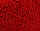 Fiber Content 70% Acrylic, 30% Wool, Red, Brand ICE, Yarn Thickness 4 Medium  Worsted, Afghan, Aran, fnt2-52620