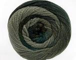 Fiber Content 90% Acrylic, 10% Polyamide, Turquoise, Brand Ice Yarns, Grey Shades, Yarn Thickness 4 Medium  Worsted, Afghan, Aran, fnt2-52621