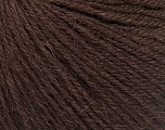 Fiber Content 55% Baby Alpaca, 45% Superwash Extrafine Merino Wool, Brand ICE, Dark Brown, Yarn Thickness 3 Light  DK, Light, Worsted, fnt2-52761
