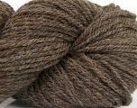 Yarn is hand sheered and all natural undyed wool. Conţinut de fibre 100% Natural Undyed Wool, Brand Ice Yarns, Brown, Yarn Thickness 4 Medium  Worsted, Afghan, Aran, fnt2-52772