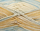 Fiber Content 50% Acrylic, 50% Cotton, Light Brown, Light Blue, Brand Ice Yarns, Cream, Yarn Thickness 2 Fine  Sport, Baby, fnt2-52915