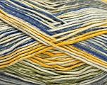 Fiber Content 50% Acrylic, 50% Cotton, Yellow, Brand Ice Yarns, Green, Cream, Blue, Yarn Thickness 2 Fine  Sport, Baby, fnt2-52919