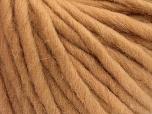 Fiber Content 100% Australian Wool, Brand Ice Yarns, Cafe Latte, Yarn Thickness 6 SuperBulky  Bulky, Roving, fnt2-52941
