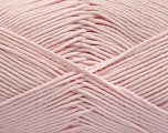 Baby cotton is a 100% premium giza cotton yarn exclusively made as a baby yarn. It is anti-bacterial and machine washable! Fiber Content 100% Giza Cotton, Light Pink, Brand Ice Yarns, Yarn Thickness 3 Light  DK, Light, Worsted, fnt2-53080
