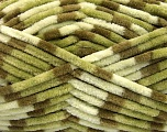 Fiber Content 100% Micro Fiber, Brand ICE, Green Shades, Cream, Yarn Thickness 4 Medium  Worsted, Afghan, Aran, fnt2-53112