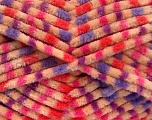 Fiber Content 100% Micro Fiber, Purple, Pink, Orange, Lilac, Brand Ice Yarns, Dark Cream, Yarn Thickness 4 Medium  Worsted, Afghan, Aran, fnt2-53119
