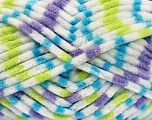 Fiberinnhold 100% Mikro-Fiber, White, Turquoise, Neon Green, Lilac, Brand Ice Yarns, Yarn Thickness 4 Medium  Worsted, Afghan, Aran, fnt2-53123