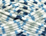 Fiber Content 100% Micro Fiber, White, Brand ICE, Grey, Blue Shades, Yarn Thickness 4 Medium  Worsted, Afghan, Aran, fnt2-53132
