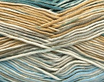 Fiber Content 50% Cotton, 50% Acrylic, Turquoise, Light Blue, Brand Ice Yarns, Grey, Cream, Beige, fnt2-53164