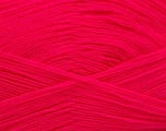 Very thin yarn. It is spinned as two threads. So you will knit as two threads. Yardage information is for only one strand. Fiber Content 100% Acrylic, Neon Pink, Brand ICE, Yarn Thickness 1 SuperFine  Sock, Fingering, Baby, fnt2-53166