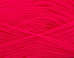 Very thin yarn. It is spinned as two threads. So you will knit as two threads. Yardage information is for only one strand. Fiber Content 100% Acrylic, Neon Pink, Brand Ice Yarns, Yarn Thickness 1 SuperFine  Sock, Fingering, Baby, fnt2-53166