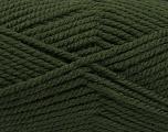 Fiber Content 100% Acrylic, Brand ICE, Dark Green, Yarn Thickness 5 Bulky  Chunky, Craft, Rug, fnt2-53177