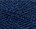 Fiber Content 100% Acrylic, Navy, Brand ICE, Yarn Thickness 5 Bulky  Chunky, Craft, Rug, fnt2-53187