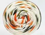 Fiber Content 80% Acrylic, 20% Polyamide, White, Orange, Brand Ice Yarns, Green Shades, Yarn Thickness 4 Medium  Worsted, Afghan, Aran, fnt2-53200