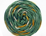 Fiber Content 80% Acrylic, 20% Polyamide, White, Teal, Brand Ice Yarns, Green, Gold, Yarn Thickness 4 Medium  Worsted, Afghan, Aran, fnt2-53208
