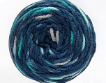 Fiber Content 80% Acrylic, 20% Polyamide, Turquoise, Brand Ice Yarns, Grey, Blue Shades, Yarn Thickness 4 Medium  Worsted, Afghan, Aran, fnt2-53210