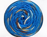 Fiber Content 80% Acrylic, 20% Polyamide, Brand Ice Yarns, Cream, Brown Shades, Blue, Yarn Thickness 4 Medium  Worsted, Afghan, Aran, fnt2-53211