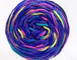 Fiber Content 80% Acrylic, 20% Polyamide, Purple, Neon Colors, Brand Ice Yarns, Yarn Thickness 4 Medium  Worsted, Afghan, Aran, fnt2-53214