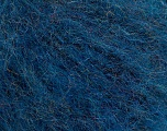 Knitted as 4 ply Fiber Content 40% Polyamide, 30% Acrylic, 30% Kid Mohair, Turquoise Melange, Brand ICE, Yarn Thickness 1 SuperFine  Sock, Fingering, Baby, fnt2-53306
