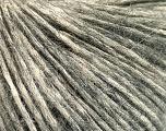Fiber Content 64% Cotton, 22% Alpaca Superfine, 14% Wool, Brand Ice Yarns, Grey, Cream, Yarn Thickness 2 Fine  Sport, Baby, fnt2-53308