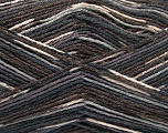Fiber Content 50% Superwash Merino Wool, 25% Bamboo, 25% Polyamide, Brand Ice Yarns, Grey Shades, Brown Shades, Yarn Thickness 1 SuperFine  Sock, Fingering, Baby, fnt2-53333