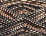 Fiber Content 50% Superwash Merino Wool, 25% Polyamide, 25% Bamboo, Brand Ice Yarns, Grey, Camel, Brown, Yarn Thickness 1 SuperFine  Sock, Fingering, Baby, fnt2-53334