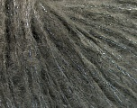 Fiberinnhold 30% polyamid, 25% Mohair, 20% Ull, 15% Akryl, 10% Metallisk Lurex, Brand Ice Yarns, Dark Grey, fnt2-53357