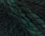 Please note that this is a self-striping yarn and self-effecting. Please see knitted sample to see the color and effect variation. Fiber Content 38% Wool, 32% Acrylic, 20% Alpaca, 10% Polyamide, Brand ICE, Green, Black, Yarn Thickness 4 Medium  Worsted, Afghan, Aran, fnt2-53370
