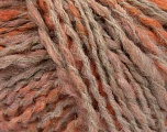 Please note that this is a self-striping yarn and self-effecting. Please see knitted sample to see the color and effect variation. Fiber Content 38% Wool, 32% Acrylic, 20% Alpaca, 10% Polyamide, Light Salmon, Light Orange, Brand Ice Yarns, Cream, Yarn Thickness 4 Medium  Worsted, Afghan, Aran, fnt2-53377