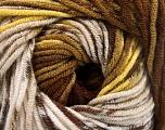 Fiber Content 100% Acrylic, Yellow, Khaki, Brand Ice Yarns, Brown Shades, Yarn Thickness 4 Medium  Worsted, Afghan, Aran, fnt2-53532
