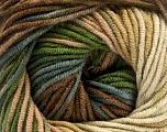 Fiber Content 100% Acrylic, Brand Ice Yarns, Green, Brown Shades, Yarn Thickness 4 Medium  Worsted, Afghan, Aran, fnt2-53533