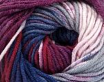Fiber Content 100% Acrylic, Purple, Brand Ice Yarns, Burgundy, Blue Shades, Yarn Thickness 4 Medium  Worsted, Afghan, Aran, fnt2-53534