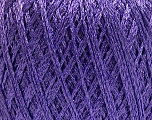 Fiber Content 75% Polyester, 25% Lurex, Lavender, Brand Ice Yarns, fnt2-53549