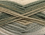 Fiber Content 70% Acrylic, 30% Wool, Khaki, Brand ICE, Grey, Cream, Beige, Yarn Thickness 4 Medium  Worsted, Afghan, Aran, fnt2-53552