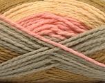 Fiber Content 70% Acrylic, 30% Wool, Pink, Olive Green, Light Yellow, Brand ICE, Grey, Yarn Thickness 4 Medium  Worsted, Afghan, Aran, fnt2-53553