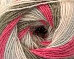 Fiber Content 60% Acrylic, 20% Angora, 20% Wool, Pink Shades, Light Grey, Khaki, Brand ICE, Yarn Thickness 2 Fine  Sport, Baby, fnt2-53559