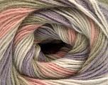 Fiber Content 60% Acrylic, 20% Angora, 20% Wool, White, Lilac, Light Pink, Light Khaki, Brand Ice Yarns, Yarn Thickness 2 Fine  Sport, Baby, fnt2-53561