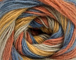 Fiber Content 60% Acrylic, 20% Angora, 20% Wool, Salmon, Brand ICE, Gold, Blue, Beige, Yarn Thickness 2 Fine  Sport, Baby, fnt2-53562