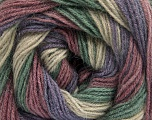 Fiber Content 60% Acrylic, 20% Wool, 20% Angora, Orchid, Lavender, Brand Ice Yarns, Green, Beige, Yarn Thickness 2 Fine  Sport, Baby, fnt2-53564