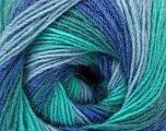 Fiber Content 60% Acrylic, 20% Angora, 20% Wool, Turquoise Shades, Brand ICE, Blue Shades, Yarn Thickness 2 Fine  Sport, Baby, fnt2-53565