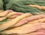 Fiber Content 100% Superwash Wool, Pink Shades, Brand ICE, Green Shades, Cream, Yarn Thickness 6 SuperBulky  Bulky, Roving, fnt2-53571
