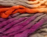 Fiber Content 100% Superwash Wool, Yellow, Purple, Orange, Brand ICE, Yarn Thickness 6 SuperBulky  Bulky, Roving, fnt2-53575