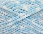 Fiber Content 100% Micro Fiber, White, Brand ICE, Baby Blue, Yarn Thickness 4 Medium  Worsted, Afghan, Aran, fnt2-53693