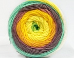 Conţinut de fibre 100% Acrilic, Yellow Shades, Orchid, Light Grey, Brand Ice Yarns, Green Shades, fnt2-53698