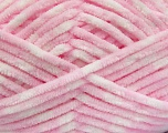 Fiberinnehåll 100% mikrofiber, White, Light Pink, Brand Ice Yarns, fnt2-53700