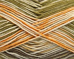Fiber Content 50% Acrylic, 50% Cotton, Yellow, Brand Ice Yarns, Green, Cream, Camel, fnt2-53759