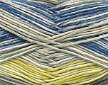 Fiber Content 50% Acrylic, 50% Cotton, Yellow, Brand Ice Yarns, Grey Shades, Cream, Blue, fnt2-53760